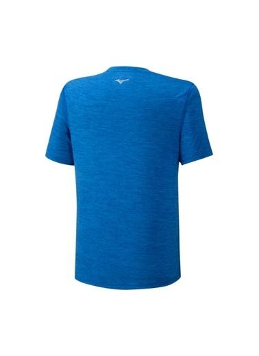 Mizuno Core Graphic Rb Tee Erkek T-Shirt Mavi Mavi